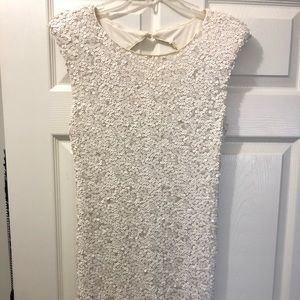 As U Wish White sequin dress